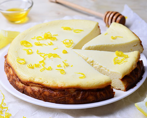 Cheesecake au miel fruité Lune de Miel® et citron
