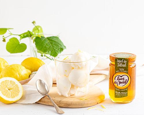 Sorbet citron au miel de tilleul Lune de Miel®