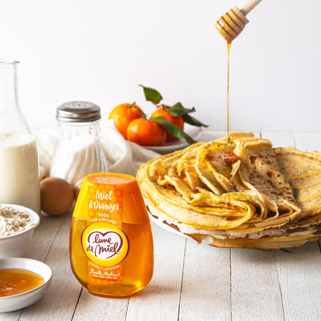 Crêpes au miel d'oranger Lune de Miel®